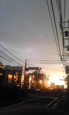 金色に輝く街並